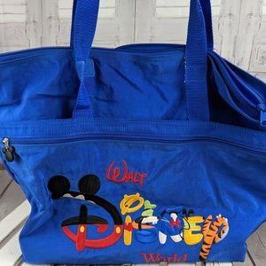 Disney world nylon tote travel carry blue mickey b